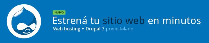 Estrená tu sitio web en minutos. Es muy sencillo. Web hosting + Drupal 7 preinstalado.