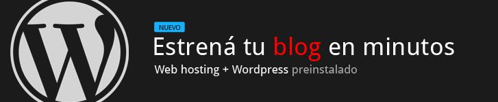 Estrená tu blog en minutos. Es muy sencillo. Web hosting + WordPress preinstalado.
