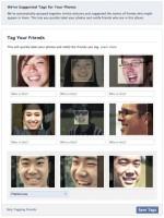 Sugerencia de etiquetas a través de reconocimiento facial