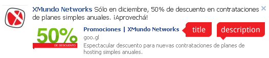 Title y Meta Description en enlaces de Facebook