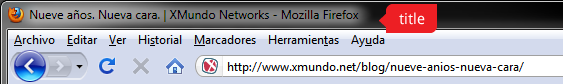 Title en la barra del navegador web
