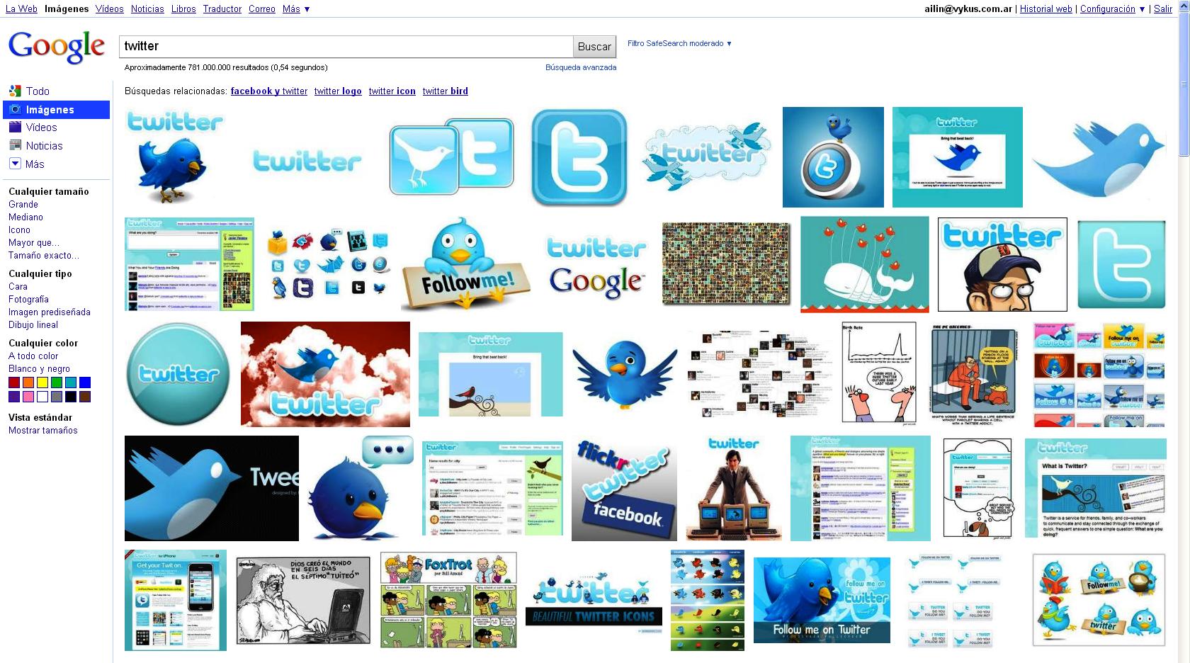 Captura de pantalla de Google Imágenes