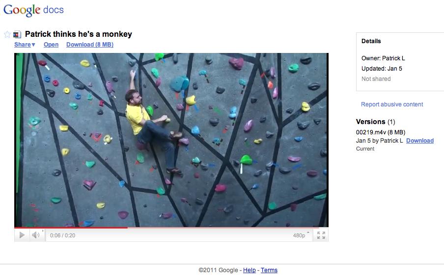 Google Docs Video