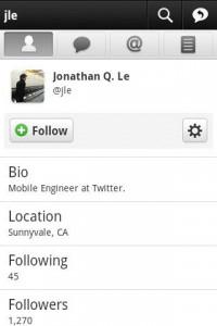 Twitter para Android - Captura de pantalla
