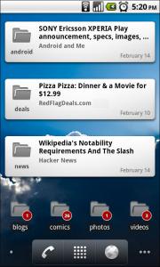 Google Reader App - Widget
