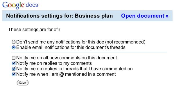 Google Docs Discussions 6