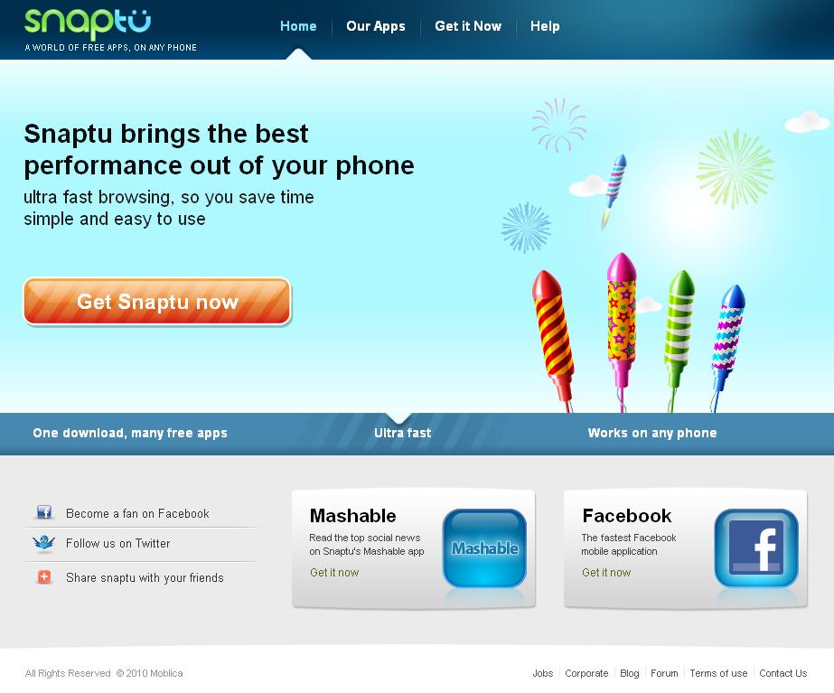 Snaptu Home Page