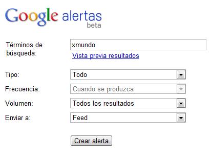 Formulario - Google Alerts