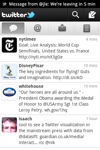Twitter for Android - Screenshot