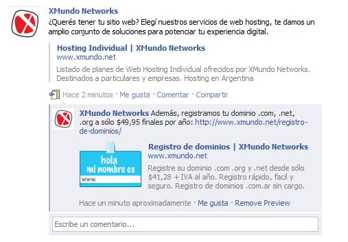 Vista previa de Comentarios en Facebook: facebook.com/xmundonetworks