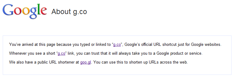 Google g.co