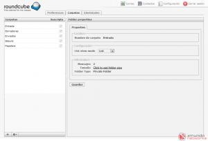 Webmail - Configuración: Carpetas