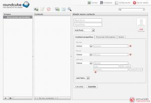 Webmail - Agregar contacto