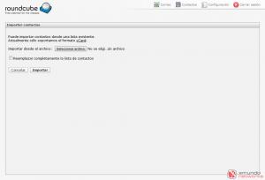 Webmail - Importar contactos