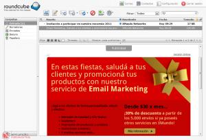 Webmail - Vista de buzón