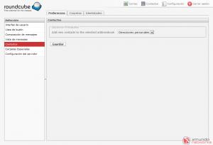 Webmail - Configuración: Contactos