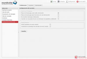 Webmail - Configuración: Configuración del servidor