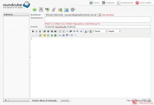 Webmail - Redactar correo electrónico