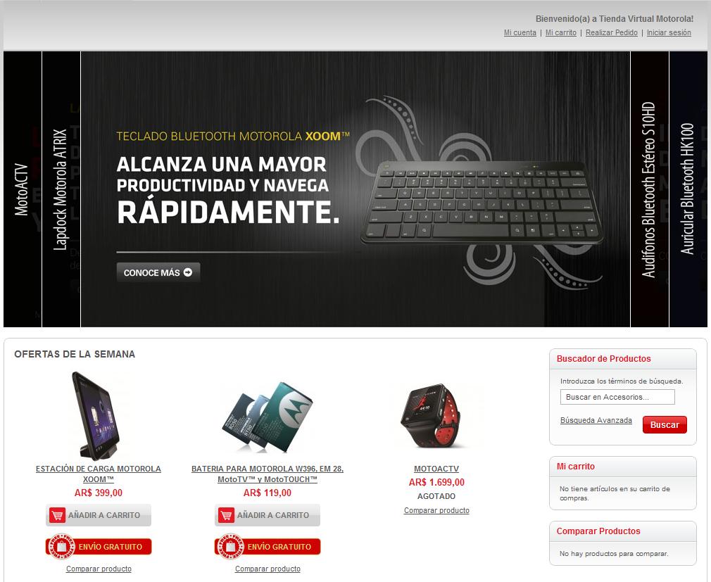 Tienda Virtual Motorola